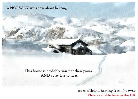 100% efficient heating from Norway - now available here in the UK